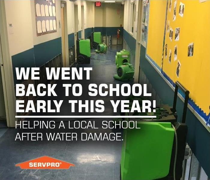 Commercial SERVPRO of East Windsor went Back to School Early, Helping a New Jersey School with Restoration After Water Damage.