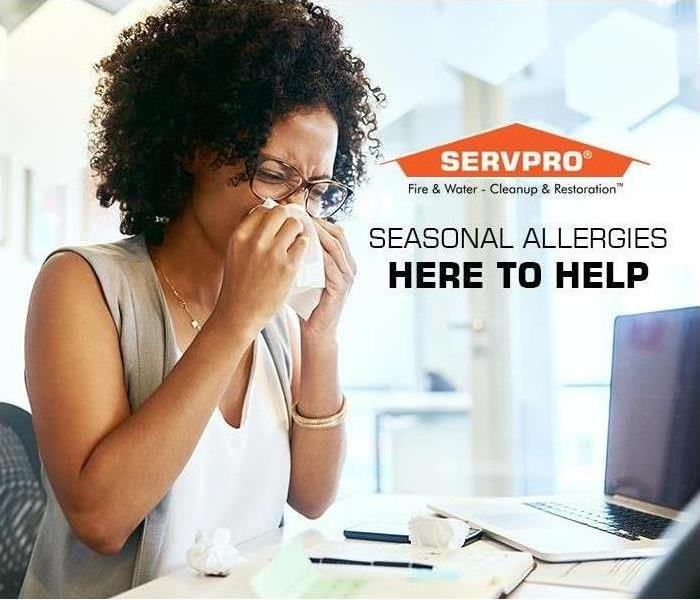 Commercial Looking for relief from indoor allergies this spring, SERVPRO professional cleaning services can help.